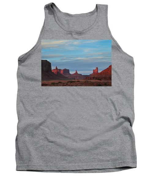 Tank Top featuring the photograph Last Light In Monument Valley by Alan Vance Ley
