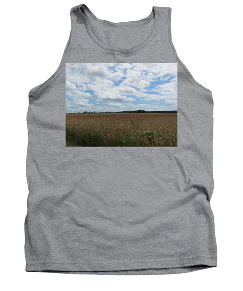 Tank Top featuring the photograph Last Of The Poppies by Pema Hou