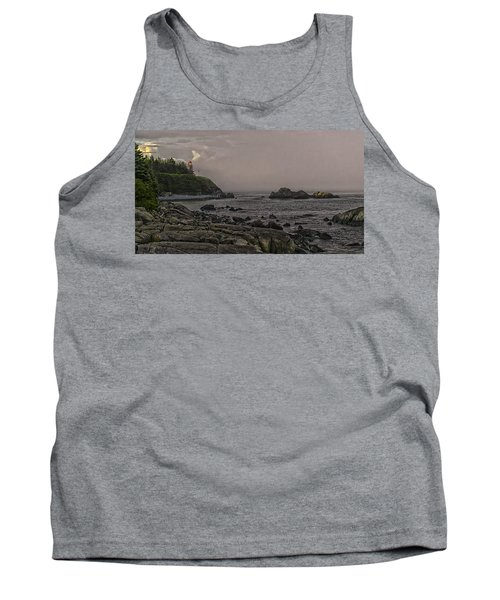 Tank Top featuring the photograph Late Afternoon Sun On West Quoddy Head Lighthouse by Marty Saccone