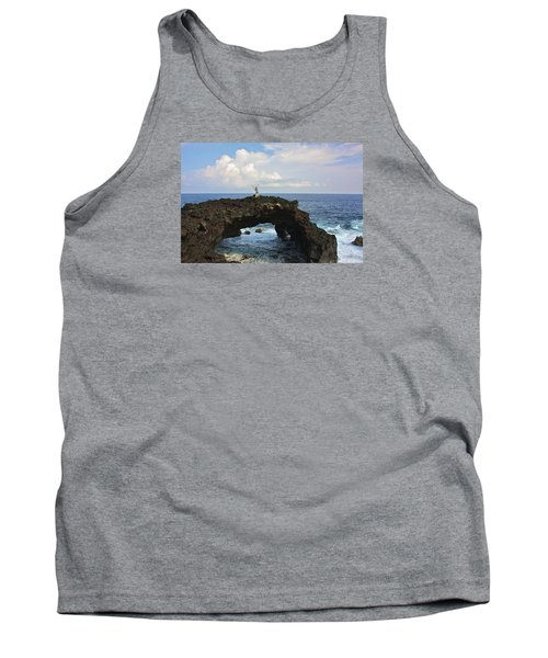 Lava Sea Arch In Hawaii Tank Top by Venetia Featherstone-Witty