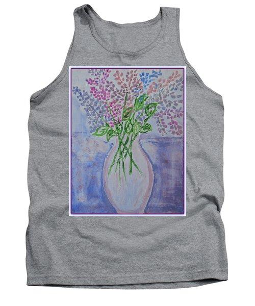 Lavendar  Flowers Tank Top