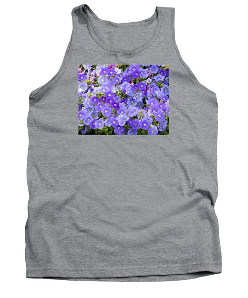 Lavender And Purple Tank Top by Mariarosa Rockefeller