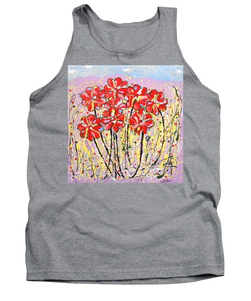 Lavender Flower Garden Tank Top