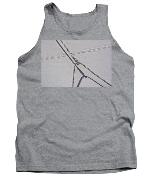Tank Top featuring the photograph Lazy Jack-shadow And Sail by Marty Saccone