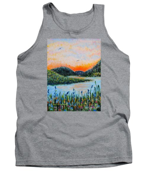 Tank Top featuring the painting Lazy River by Holly Carmichael