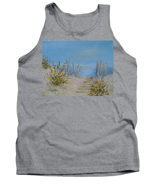 Tank Top featuring the painting Lbi Peace by Judith Rhue