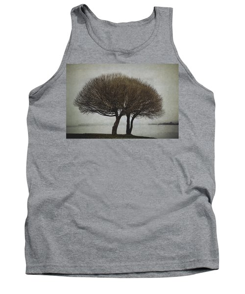 Tank Top featuring the photograph Leafless Couple by Ari Salmela