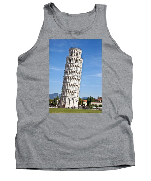 Leaning Tower Of Pisa Tank Top by Liz Leyden
