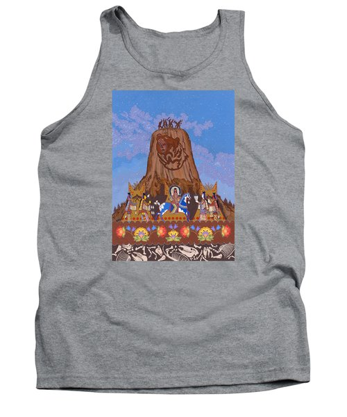 Tank Top featuring the painting Legend Of Bear's Tipi by Chholing Taha