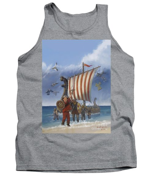 Tank Top featuring the painting Legendary Viking by Rob Corsetti