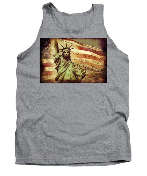 Declaration Of Independence Tank Top by Az Jackson