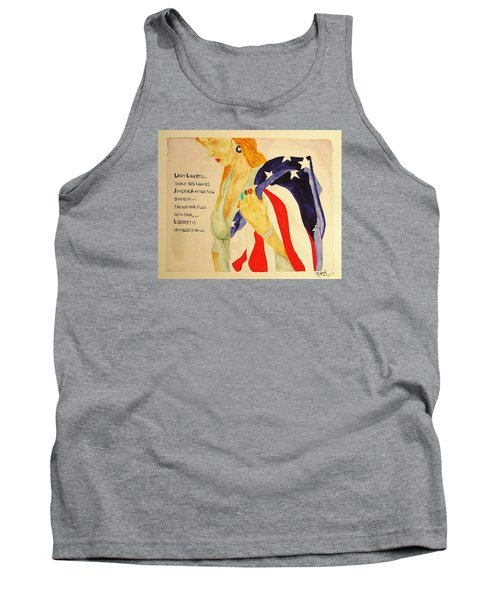 Tank Top featuring the painting The Divorce Of Liberty by Rand Swift
