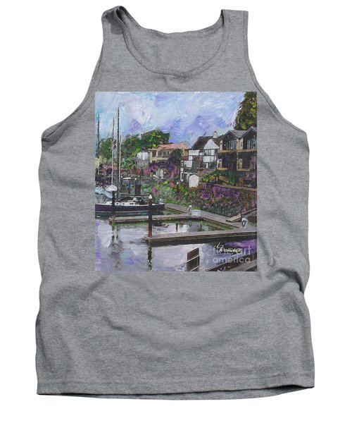 Alameda Life On The Estuary Tank Top by Linda Weinstock