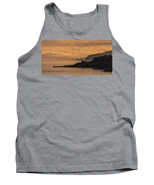 Tank Top featuring the photograph Lifting Fog At Sunrise On Campobello Coastline by Marty Saccone