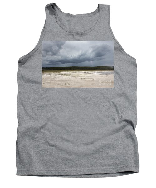 Lightening At Yellowstone Tank Top by Belinda Greb