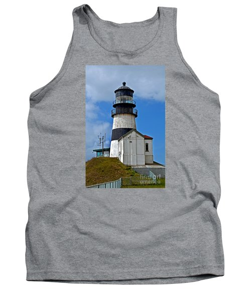 Lighthouse At Cape Disappointment Washington Tank Top by Valerie Garner