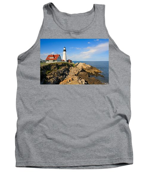 Lighthouse In The Sun Tank Top