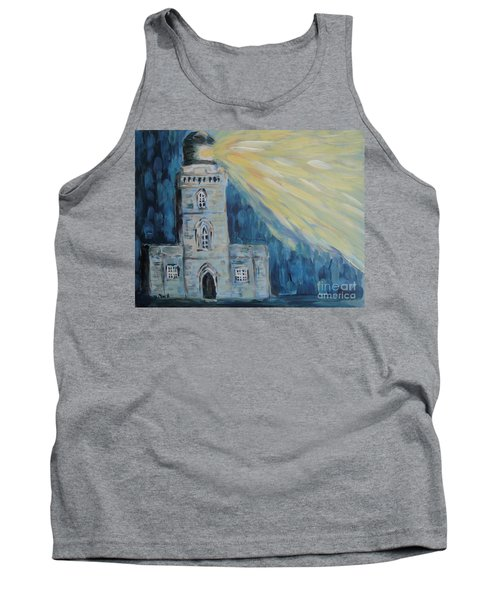 Tank Top featuring the painting Lighthouse by Maria Langgle