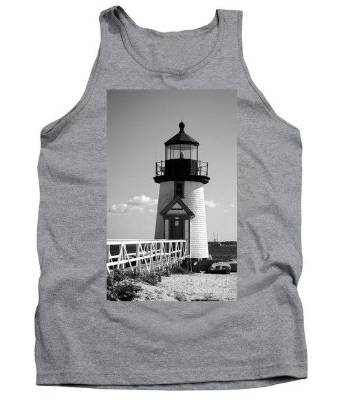 Lighthouse On Nantucket Bw Tank Top