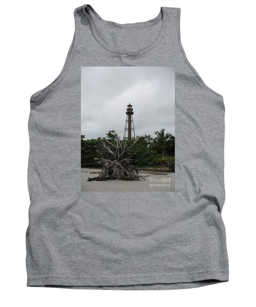 Lighthouse On Sanibel Island Tank Top by Christiane Schulze Art And Photography