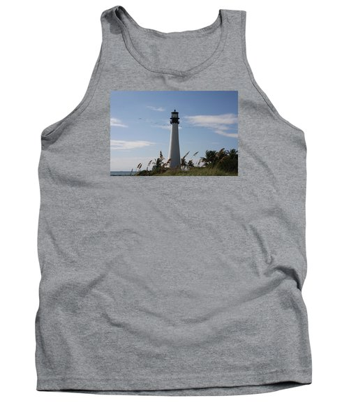 Ligthouse - Key Biscayne Tank Top by Christiane Schulze Art And Photography