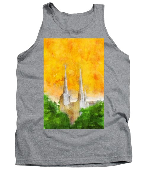 Tank Top featuring the painting Like A Fire Is Burning by Greg Collins