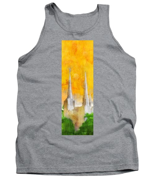 Tank Top featuring the painting Like A Fire Is Burning - Panoramic by Greg Collins