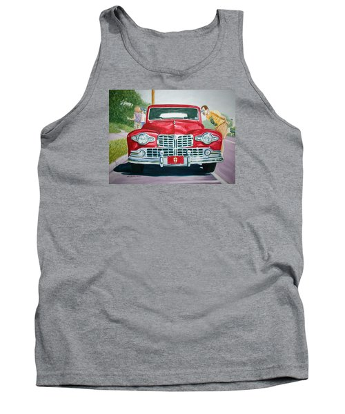 Tank Top featuring the painting Lincoln In Red by Stacy C Bottoms