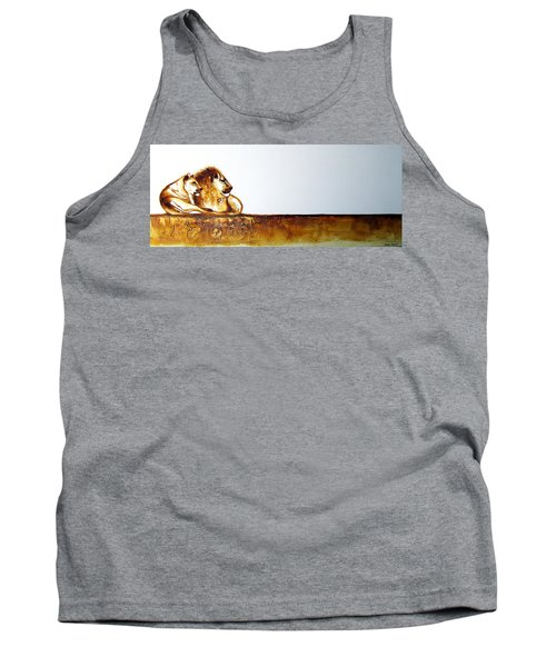 Lion And Lioness - Original Artwork Tank Top