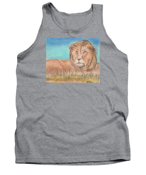 Tank Top featuring the pastel Lion by David Jackson