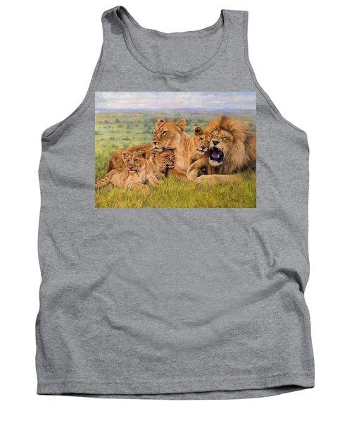 Lion Family Tank Top by David Stribbling