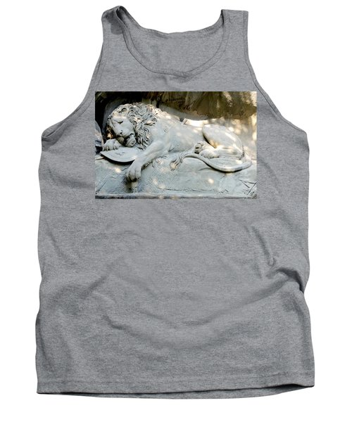 Lion Monument In Lucerne Switzerland Tank Top