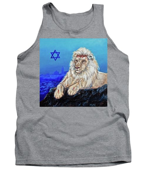 Tank Top featuring the painting Lion Of Judah - Jerusalem by Bob and Nadine Johnston