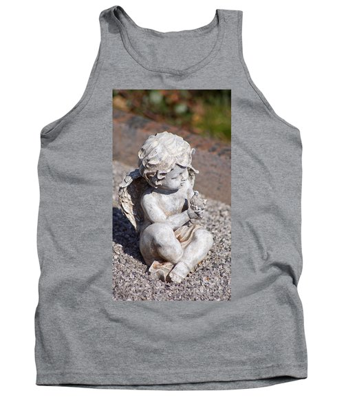 Little Angel With Bird In His Hand - Sculpture Tank Top