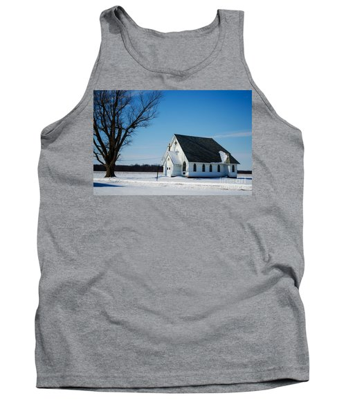 Little Church On The Prairie Tank Top by Luther Fine Art