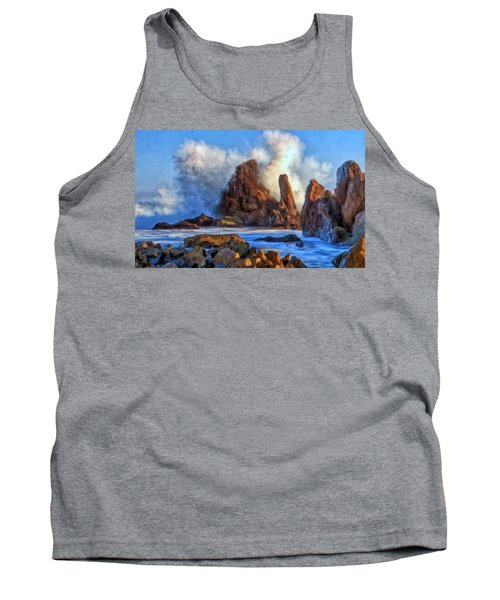 Tank Top featuring the painting Little Corona by Michael Pickett