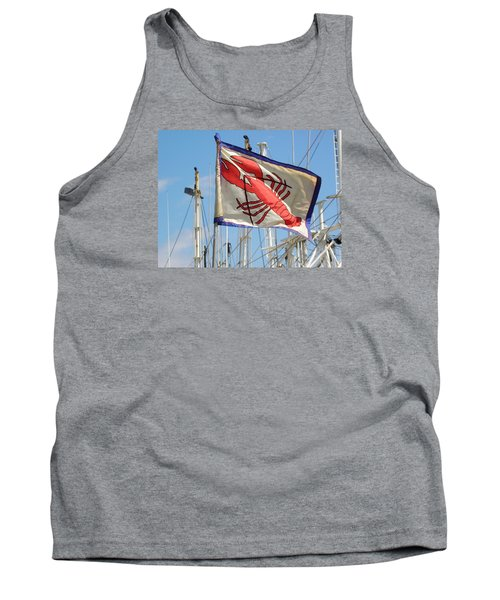 Lobster Flag At The Point Tank Top by Mary Carol Williams