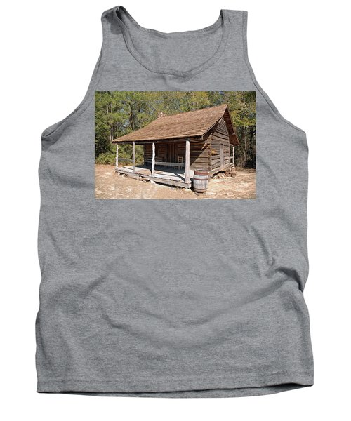 Tank Top featuring the photograph Log Cabin by Charles Beeler