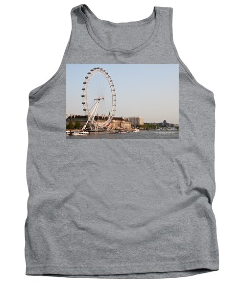 Tank Top featuring the photograph London Eye Day by Matt Malloy