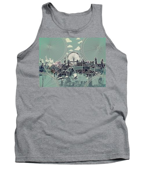 London Skyline Vintage Tank Top