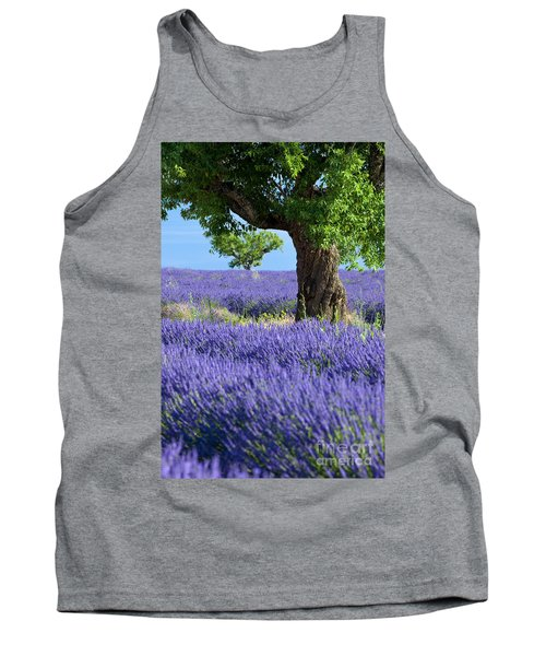 Lone Tree In Lavender Tank Top