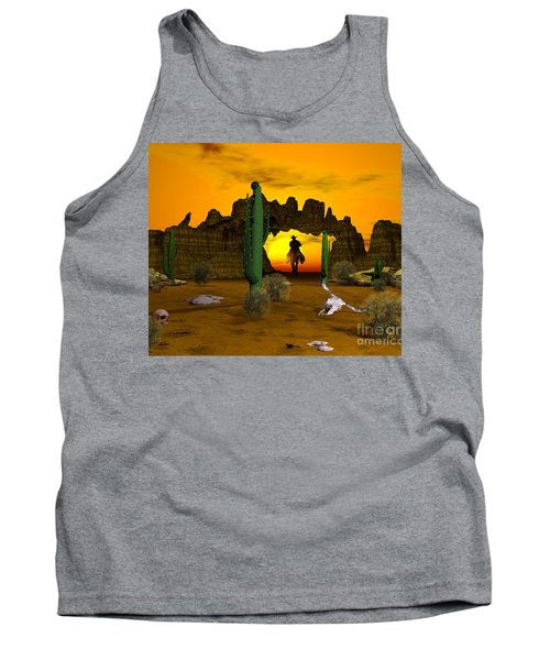 Tank Top featuring the digital art Lonesome Dove by Jacqueline Lloyd