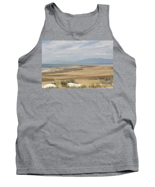 Looking North From Antelope Island Tank Top by Belinda Greb
