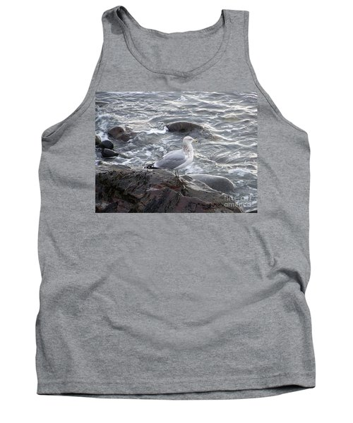 Tank Top featuring the photograph Looking Out To Sea by Eunice Miller