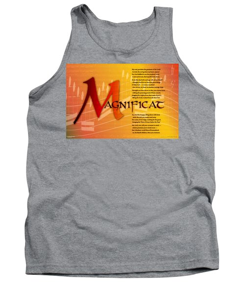 Magnificat Tank Top by Chuck Mountain