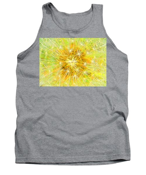 Make A Wish In Greenish Yellow Tank Top