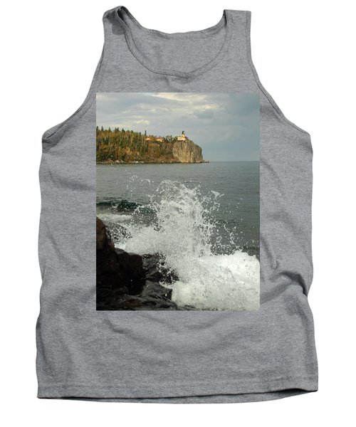 Tank Top featuring the photograph Making A Splash At Split Rock Lighthouse  by James Peterson