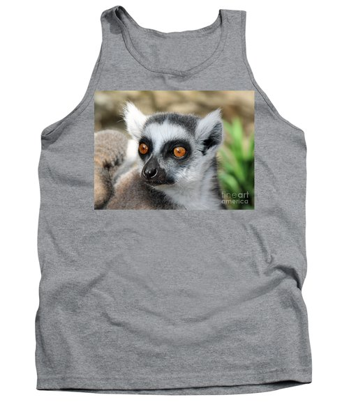 Tank Top featuring the photograph Malagasy Lemur by Sergey Lukashin