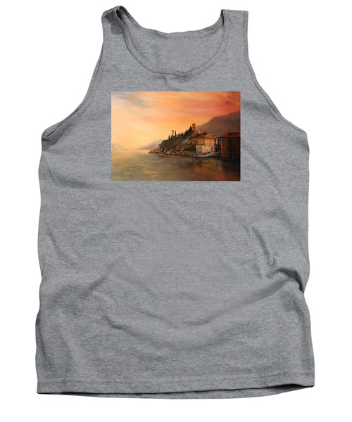 Tank Top featuring the painting Malcesine Lake Garda Italy by Jean Walker