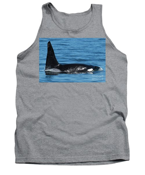 Tank Top featuring the photograph Lonesome George Ca165  Male Orca Killer Whale In Monterey Bay California 2013 by California Views Mr Pat Hathaway Archives
